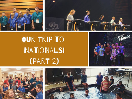 Our Trip to the National Bible Bee Part 2