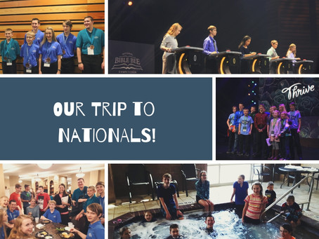 Our Trip to the National Bible Bee!