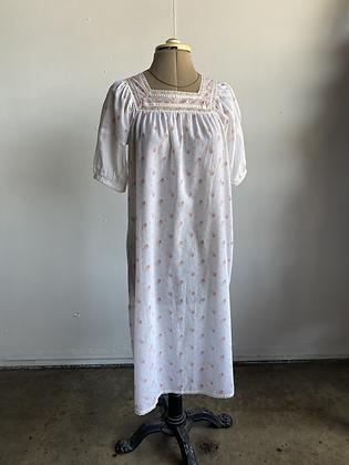 1970's Lightweight Cotton Floral Nightie/ Dress