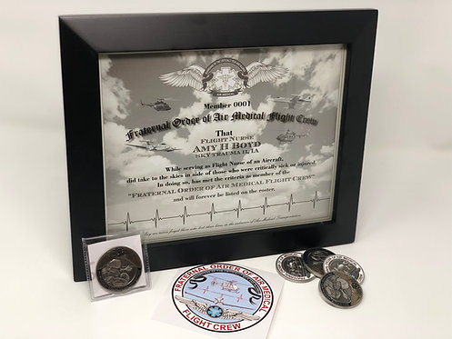 """Challenge Coin """"Fraternal Order of Air Medical Flight Crew"""""""