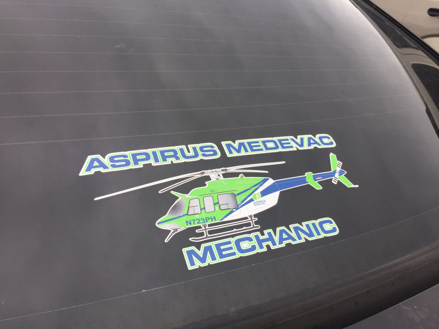 Heligraphx Medevac Mechanic Helicopter Decal
