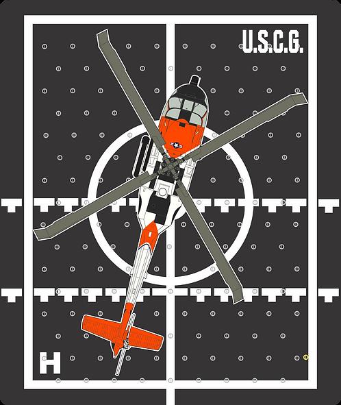 HP#10 FLIGHT DECK USCG MH60