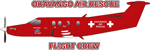 PC12#040 BOTSWANA - OKAVANGO AIR RESCUE