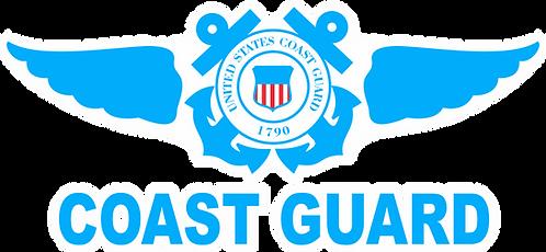 CGWING#008 CLASSIC US COAST GUARD HELMET DECAL