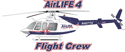 B407#104 - TEXAS - AIRLIFE 4