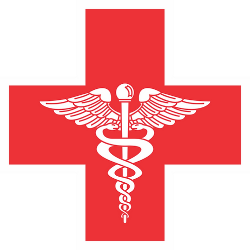 MED#001 RED CROSS CADUCEUS