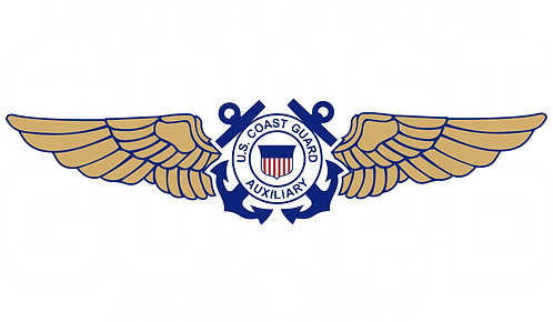 CGAUX#005 COAST GUARD AUXILIARY WINGS WINGS WITH BACK GROUND