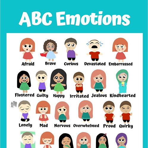 ABC Emotions Poster: Blue