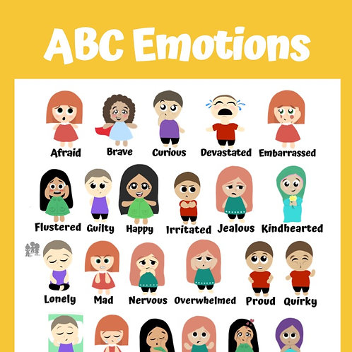 ABC Emotions Poster: Yellow