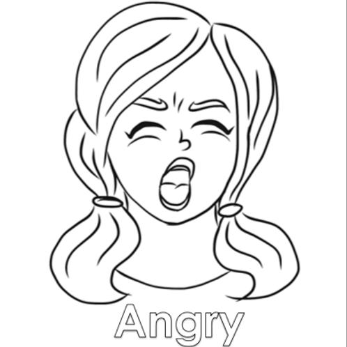 Coloring Sheet - Angry