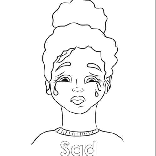 Coloring Sheet- Sad