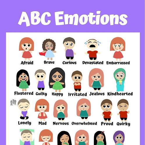ABC Emotions Poster: Purple