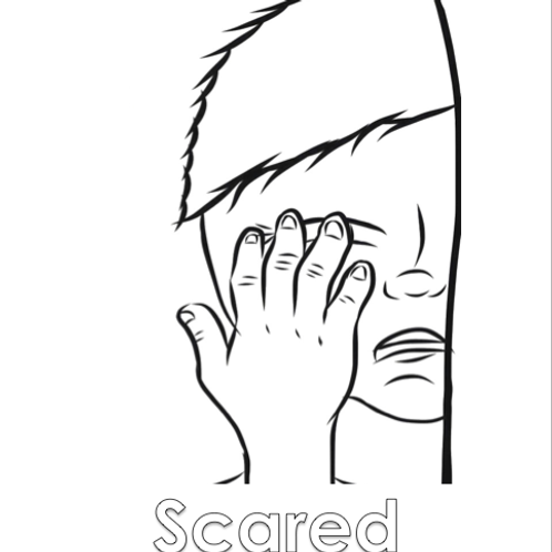 Coloring Sheet - Scared