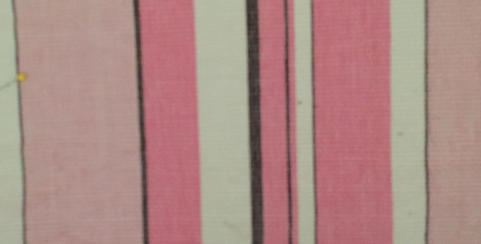 Pink White and Chocolate Stripe