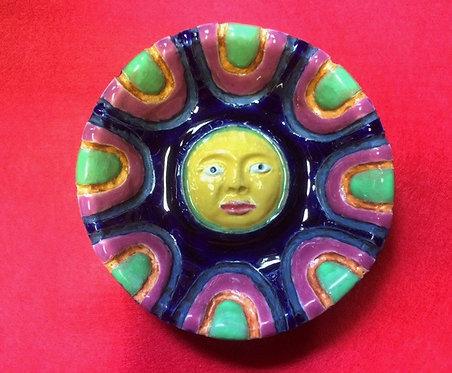 瑠璃釉月顔小皿