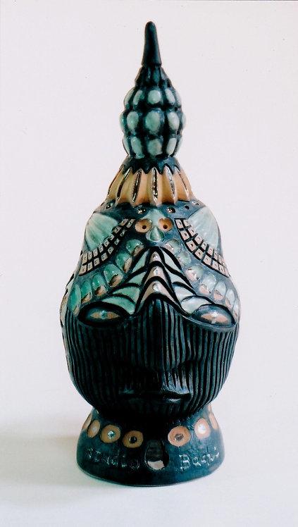 黒マット釉縞香炉