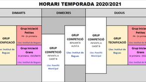 Comencem les classes d'iniciació del curs 2020/2021