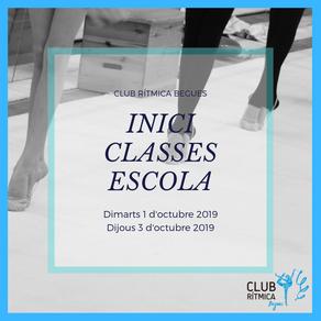INICI CLASSES D'ESCOLA