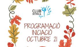 Programació Iniciació Octubre 21