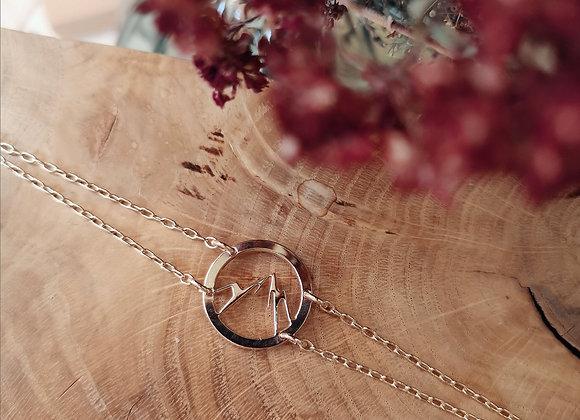 Bracelet Makalu M, plaqué or rose