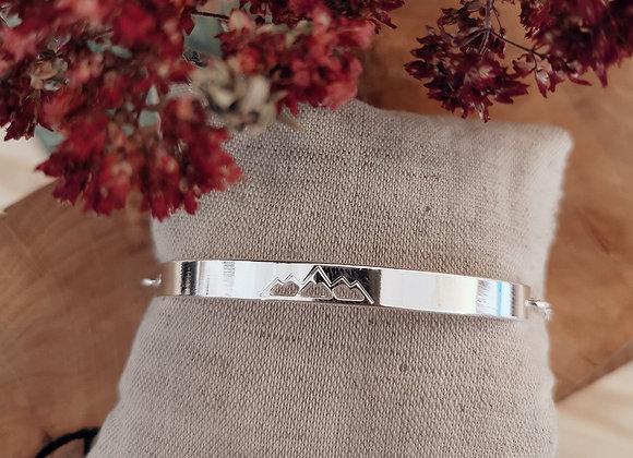 Bracelet semi rigide jonc plat Liria