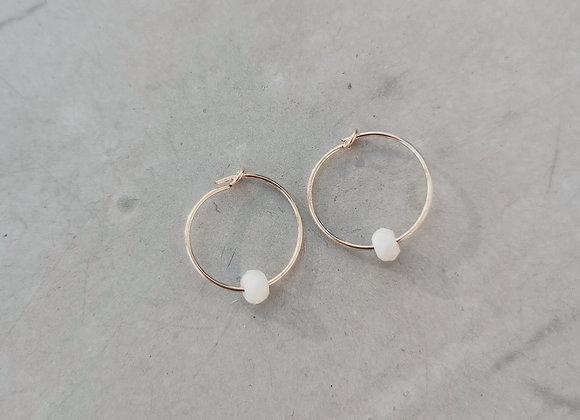 Boucles d'oreilles Gimiaz minérale S