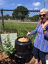 Ext. compost happy lady.JPG