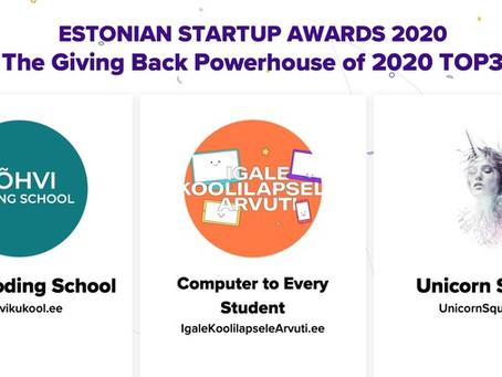 Jõhvi Coding School named the Giving Back Powerhouse of 2020