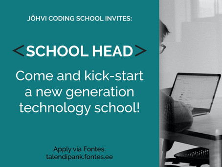 Jõhvi Coding School Is Looking for a School Head