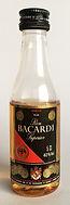 Rum Rhum Ron Bacardi Premium Black Miniature