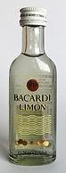 Rum Rhum Ron Bacardi Limon Miniature