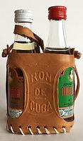 Rum Rhum Ron Mulata Leather Case Miniature