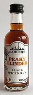 Rum Rhum Ron Peaky Blinder Black Spiced Miniature