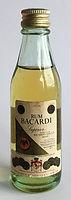 Rum Rhum Ron Bacardi Carta de Oro Miniature