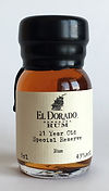 Drinks by the Dram Tasting Sample Rum El Dorado 21yo Special Reserve Miniature