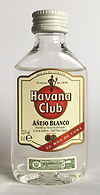 Rum Rhum Ron Havana Club Blanco PET Miniature