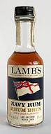 Rum Rhum Ron Lamb's Navy Rum Brun Miniature