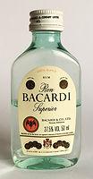 Rum Rhum Ron Bacardi Carta Blanca PET Miniature