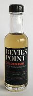 Ron Rhum Devil's Point Golden Rum Miniature