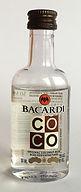 Rum Rhum Ron Bacardi Coconut PET Miniature