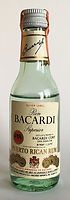 Rum Rhum Ron Bacardi Silver Label Miniature