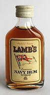 Rum Rhum Ron Lamb's Navy Rum MiniatureG