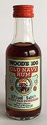 Rum Rhum Ron Woods 100 Old Navy Miniature