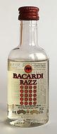 Rum Rhum Ron Bacardi Razz PET Miniature