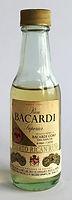 Rum Rhum Ron Bacardi Amber Label Miniature