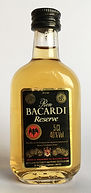 Rum Rhum Ron Bacardi Reserve Miniature