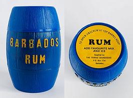 Rum Rhum Ron Tripod Barbados Miniature
