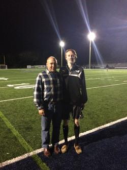 Joe with his nephew Jonny Saunders
