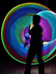 Violet LED hoop