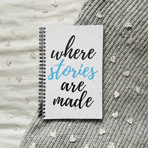 Where Stories Are Made Notebook (Different Colours)